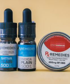 500mg Plain Flavor CBD Oil Set 1 Energizing 1 Relaxing  & 1 Pro Strength Topical Warming Balm