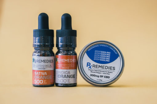 500mg Orange CBD Oil Set 1 Energizing 1 Relaxing  & 1 Pro Strength Topical Cooling Balm