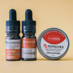 500mg Orange CBD Oil Set 1 Energizing 1 Relaxing  & 1 Pro Strength Topical Warming Balm