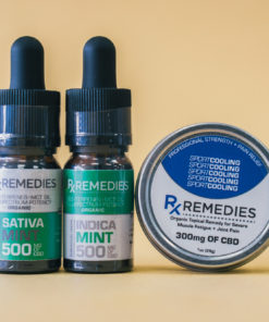 500mg Mint CBD Oil Set 1 Energizing 1 Relaxing  & 1 Pro Strength Topical Cooling Balm