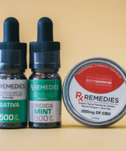 500mg Mint CBD Oil Set 1 Energizing 1 Relaxing  & 1 Pro Strength Topical Warming Balm