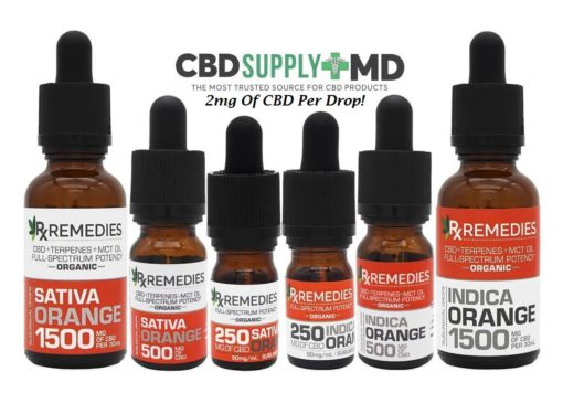 CBD Oil Full Spectrum Orange 250mg 500mg 1500mg