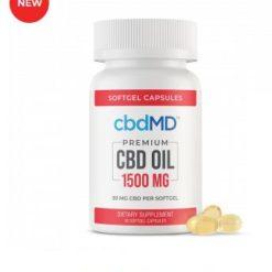 CBD Oil Softgel Capsules - 450 mg - 30 Count