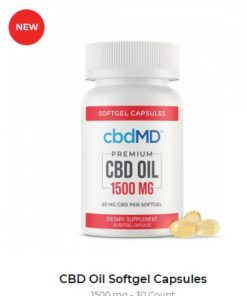CBD Oil Softgel Capsules - 450 mg - 30 Count
