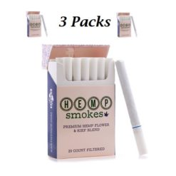 Hemp Cigarettes High CBD Hemp Flower and Kief Blend 3 Packs