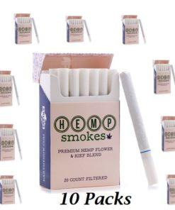 Hemp Cigarettes High CBD Hemp Flower and Kief Blend 10 Packs