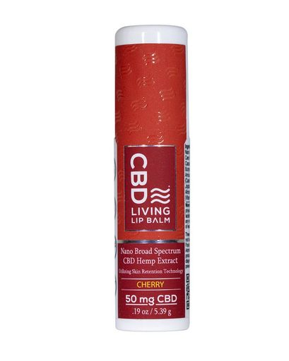 CBD Living Cherry Lip Balm 50 mg