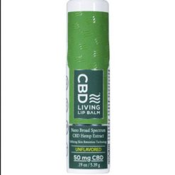 CBD Living Unflavored Lip Balm 50 mg