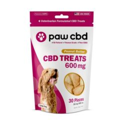 Pet CBD Oil Treats for Dogs - Peanut Butter - 600 mg - 30 Count