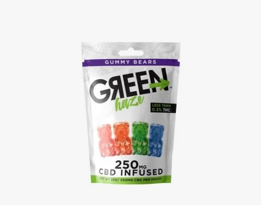 250mg Green Haze CBD Gummies 25MG EACH