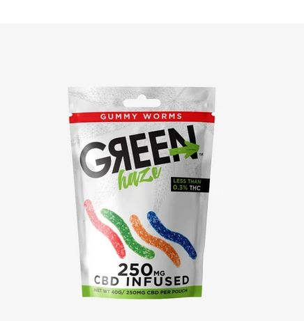 250mg Green Haze CBD Gummy Worms
